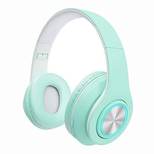 Los más nuevos Auriculares Bluetooth para niños Auriculares inalámbricos/con Cable en la Oreja para niños Adultos (Azul Cielo)