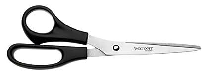 Westcott E-31182 00 - Tijeras de oficina, acero inoxidable, 21 cm, 8 pulgadas, color negro