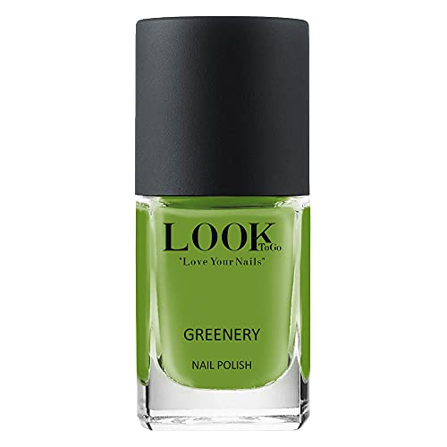 Look to go Nagellack NP 068 Greenery 12ml • Grüner Farblack mit tollem Glanz und perfekter Deckkraft • vegan & 13-free • Made in Germany