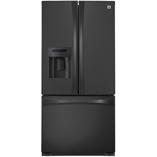 Kenmore 04671319 23.9 cu. ft. 33' Wide French Door Bottom Freezer Refrigerator, Black