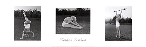 (12x36) Marilyn Monroe's Workout Movie Poster Print