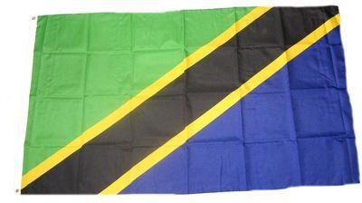 Fahne / Flagge Tansania NEU 90 x 150 cm Flaggen