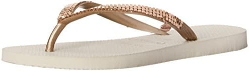 Havaianas Women's Slim Flip Flop Sandals, Metal Mesh