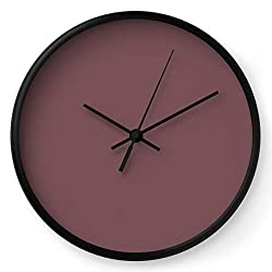 Society6 Mauve by Color Obsession on Wall Clock - Black - Black