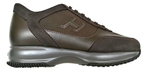 Hogan Scarpe Uomo Sneaker H3D Interactive HXM00N0I980E1I41LR Marrone (45 EU)