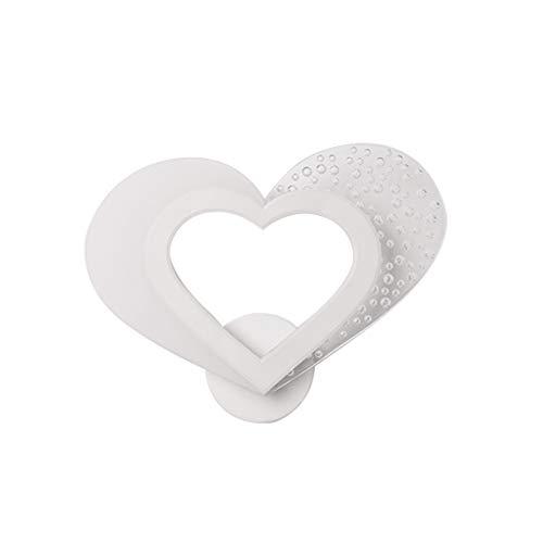 Uonlytech Lámpara de Pared Del Corazón Luz de Pared Del Corazón Regalo Del Día de San Valentín para Novia Esposa Pareja Amante Dormitorio Decoración de La Habitación