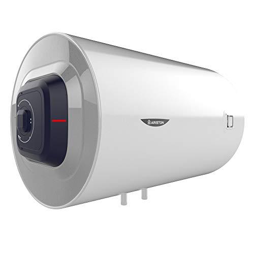 Ariston Pro1 Eco Termo Electrico 100 litros | Calentador de Agua Horizontal, Resistencia Blindada – Regulacion exterior y mecanica de la temperatura