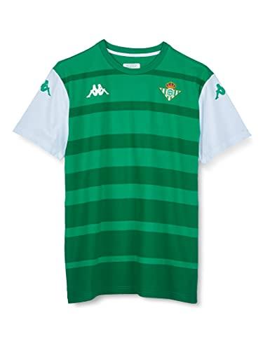 Kappa Arvin Betis Camiseta, Hombre, Verde/Blanco, S