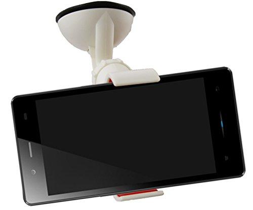 Emartbuy® Universal Handyhalterung Armaturenbrett/Windschutzscheibe Weiß fürgeeignet iNew U3W Smartphone