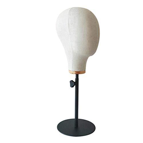 Tubayia Schaufensterpuppe Kopf Perückenständer Verstellbarer Hutständer Perücke Mütze Kappe Display Halter (Segeltuch)
