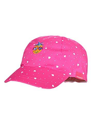 maximo Baby-Mädchen Cap Kappe, Mehrfarbig (Pink Rose-Herzen 64), (Herstellergröße: 47/49)