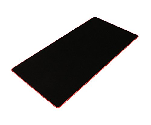 Extra-Large Gaming Mouse Pad Mats,Big Size Mouse pad Non-Slip Rubber Base, Stitched Edge (Red)