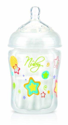 Nuby NT92466 - Biberón anticólicos de 180 ml y 5 bolsas preesterilizadas
