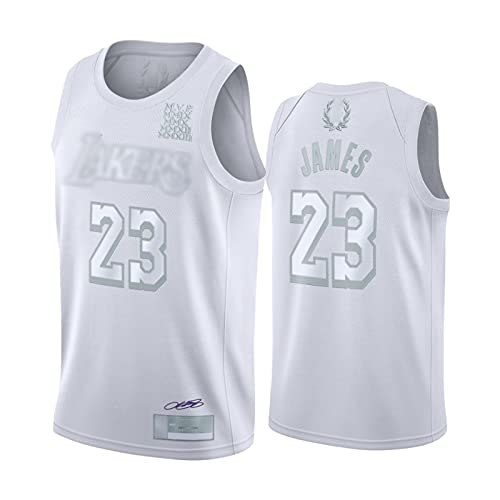 XFDYJ Camiseta de Baloncesto Hombres James # 23 White Union MVP Pattern Retro Fitness Chaleco Deportivo Top,M