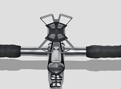 Delta Cycle X Mount Pro Handyhalterung für alle Handys, iPhone & Samsung, Schwarz