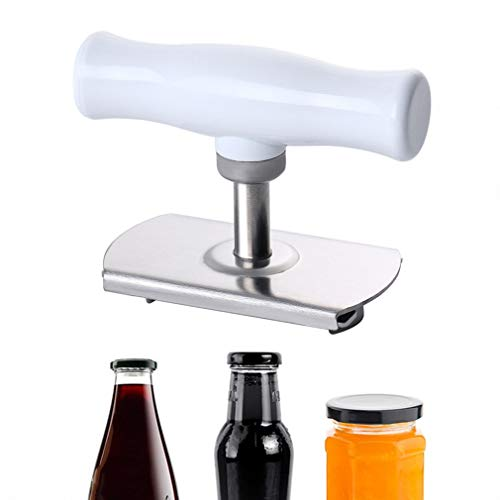 Tin Opener, Jar Opener Multifunction Adjustable Bottle Can Stainless Steel Bottle Jar Lid Opener for Weak Hand Can Opener Kitchen Aid Accessories Opener Tools