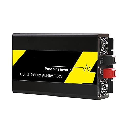 Inverter di potenza ad onda sinusoidale puro, display digitale intelligente ad alta definizione 12V / 24V / 48V a 220V 3000W / 4000W / 5000W / 6000W / 7000 W Protezione multipla,12v 220v 4000w