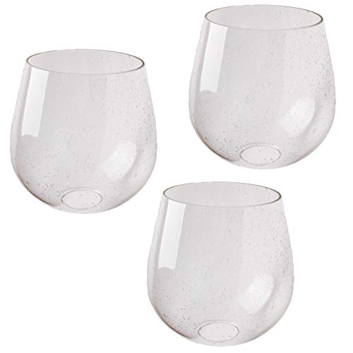 Seeded Bubble Glass Lamp Shade, LEDupdates 3 Pack Clear Globe Seeded Bubble Finish for Light Fixture Glass Replacement