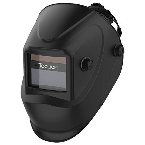 TOOLIOM Auto Darkening Welding Helmet True Color 1/1/1/2 Battery Powered Welder Mask Hood,Wide Shade Range 4/9-13 for Grinding ARC MIG TIG Welding