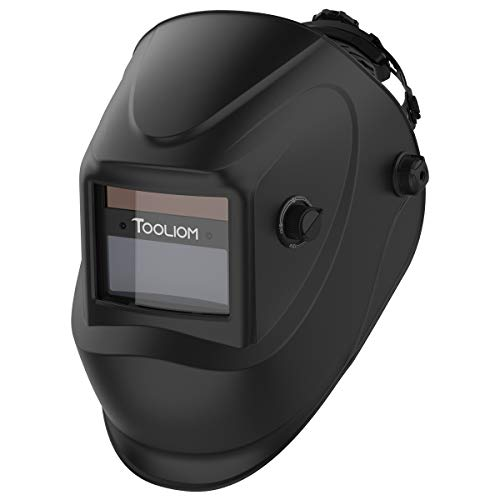 TOOLIOM Auto Darkening Welding Helmet,True Color 1/1/1/2 Battery Powered Welder Mask Hood,Wide Shade Range 4/9-13 for Grinding ARC MIG TIG Welding. Buy it now for 28.99