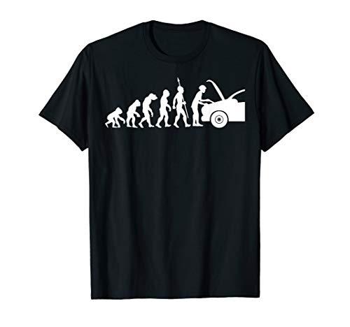 KFZ Mechaniker Evolution Fun T-Shirt Mechatroniker Werkstatt