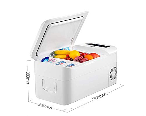 MQJ 20L Car Fridge Freezer,Mini Portable Car Fridge Electric Cool Box Igloo-12V 24V Cooling Warming,Food,Drinks,Wine|Camping,Travel,Picnics