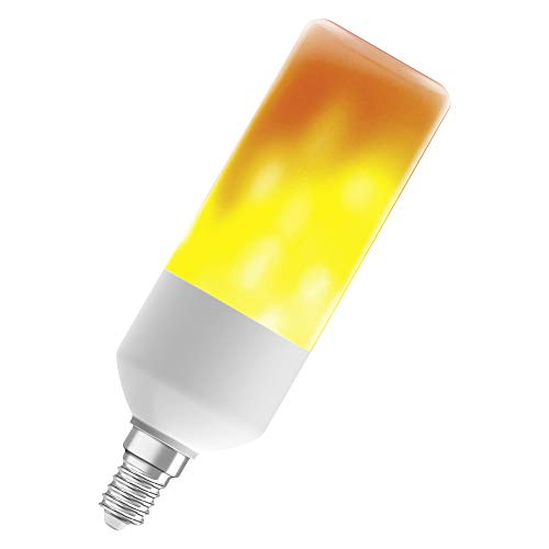 OSRAM LED STAR FLAME STICK Flammenlampe LED-Lampe, Sockel: E14, 0,50W, Warm Comfort Light 1500 K [Energieeffizienzklasse A+]