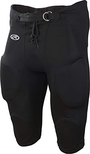 Rawlings Adult Game/Practice Football Pants, Black, Medium