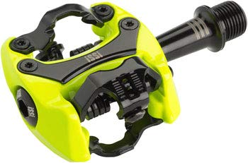 iSSi - Flash III SPD Compatible 9/16' Bicycle Pedals, for Road and Mountain Bikes, Yellow