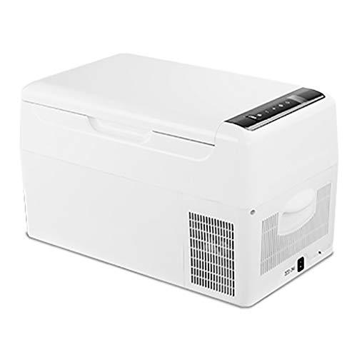 LZY Autokühlschrank, Mini-Tiefkühlkompressor Car Home Gefrierkühlschrank mit doppeltem Verwendungszweck, Blau 15L Grau 18L Weiß 20L, 12V / 24V / DC/AC 220V