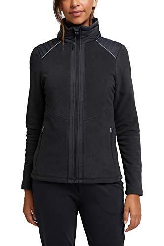 ESPRIT Sports Damen Fleece-Jacke, 001/BLACK, XS