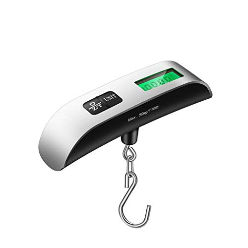 BingWS Digital Bathroom Scales Mini Portable Luggage Scales Electronic Scales Weighing 50kg Household High-Precision Scales Hook Express Scales Body Composition Monitors (Size : A)