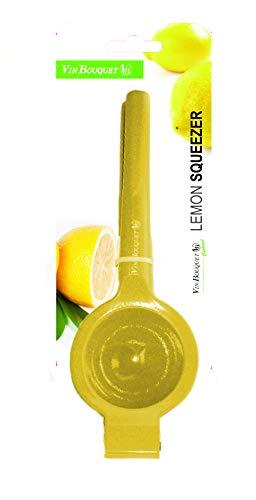 Vin Bouquet FIK 016 - Exprimidor para Cítricos, Exprimidor Zumo Manual, Exprimidor de Mano Portátil para Naranja Limón Lima y Cítricos, Color Amarillo