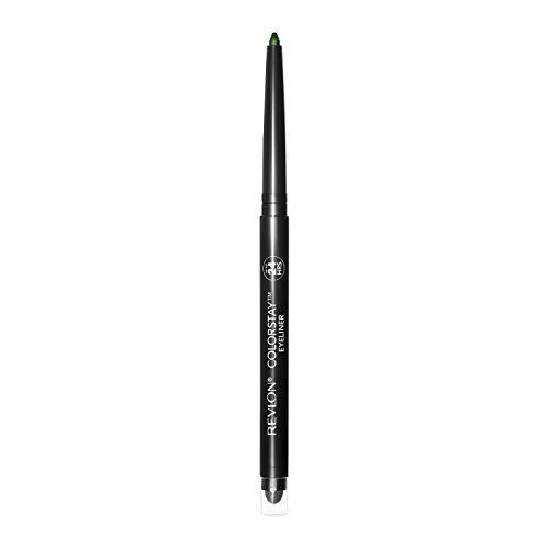 Revlon ColorStay Pencil Eyeliner with Built-in Sharpener, Waterproof, Smudgeproof, Longwearing Eye Makeup with Ultra-Fine Tip, 206 Jade, 0.01 oz