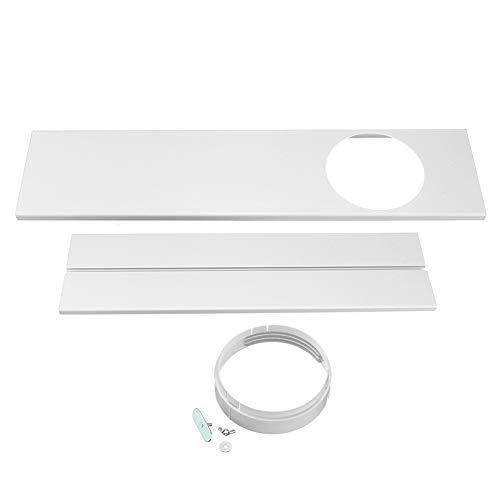 WFZ17 120 cm tubo de escape/tubo conector ventana Kit placa para aire acondicionado portátil un par de 2 piezas con conectores circulares de 15 cm, color blanco