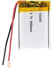 103450 3.7V 2000mAh batería de Litio Recargable de polímero de Litio para navegador GPS MP5 Altavoz Bluetooth Auriculares e-Book cámara 1pcs