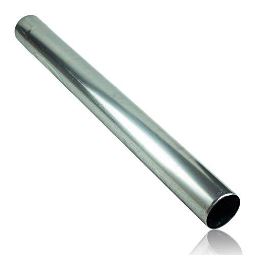 Zink Regenablaufrohr 87 mm 0,65 mm Stärke in 1 Meter Länge - Titanzink Regenrohr nahtlos geschweißt mit Muffe für eine einfache und schnelle Montage