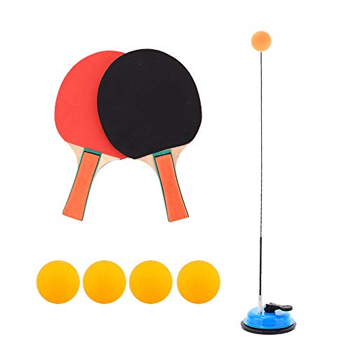 Lowest Prices! Amperware Table Tennis Trainer with Elastic Soft Shaft Portable Ping Pong Balls Paddl...