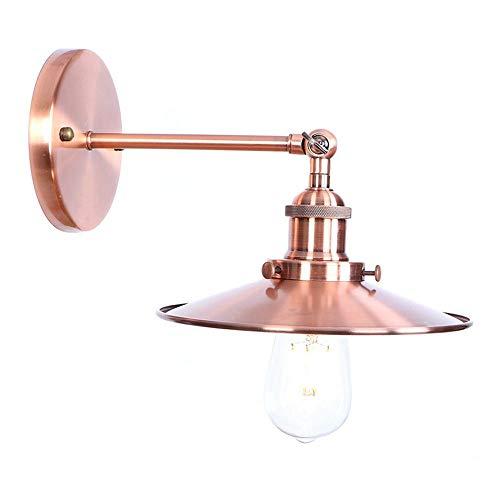 MAMINGBO MAMINGBO Lámpara de pared con brazo oscilante creativo Aplique ajustable Lámparas de bronce ajustables Vibración de pared retro industrial Brazo de hierro Focos de pared flexibles zócalo del