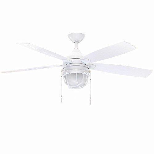Hampton Bay Seaport 52 In. Indoor/outdoor White Ceiling Fan