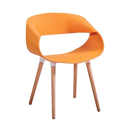 D-JIAJU Mesa De Comedor Y Sillas Juego De Mesa De Comedor De Madera Blanco Juego De Mesa para Oficina Salon Comedor Cocina (Opcional Multicolor) (Color : Orange)