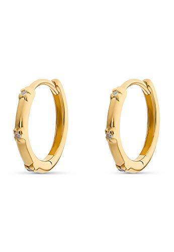 Guido Maria Kretschmer Damen-Creolen 925er Silber One Size Gold 32011676