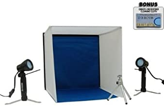 Portable Lighting Studio Ideal For Jewlery, Electronics, Collectables And More For The Fuji Finepix HS10, S2600 HD, S2500 HD (S2500HD), S1800, S1600, AX200, AV100 Digital Camera