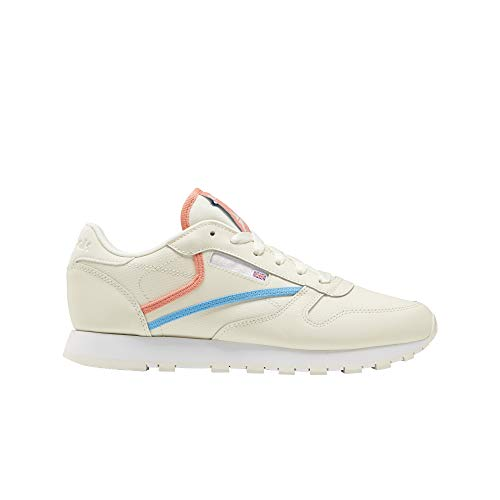 Reebok Classic Leather, Zapatillas Mujer, Footwear White Carbon Vector Red, 42.5 EU