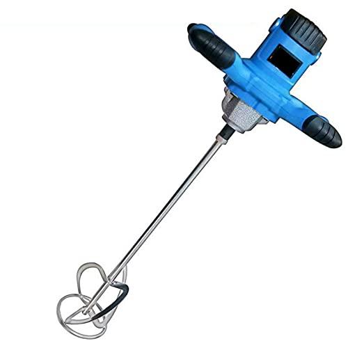 LQ-MAOZI Batidor de Pintura, Mezclador portátil Pro Electric Handh, Mezclador de Mano de 6 velocidades fáciles de operar, para Herramientas de agitación de Lodo de Pesca de mortero,Spiral shap