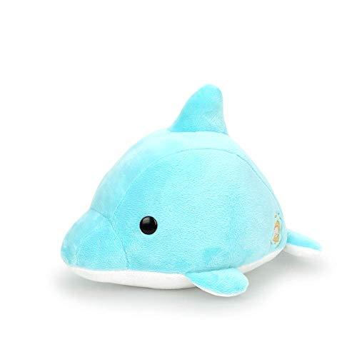 Bellzi Gray Shark Cute Stuffed Animal Plush Toy - Adorable Soft Dolphin Toy...