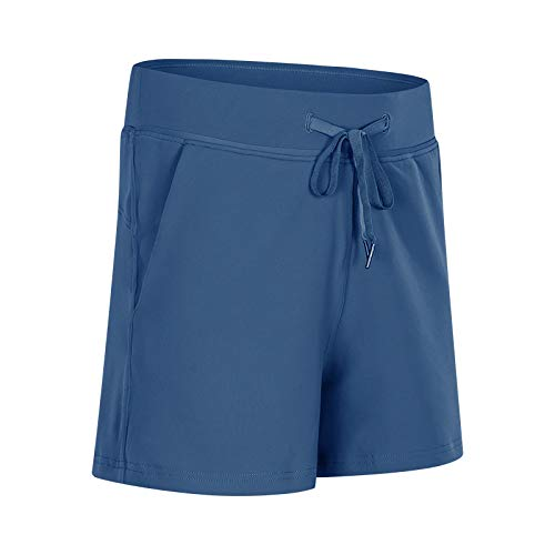 Pantalones Cortos de Verano para Mujer, Pantalones Cortos de Yoga elásticos con Bolsillo de Estilo Nuevo, Pantalones Cortos Deportivos de Ocio, antifallas, Ajustados, Deportivos 12