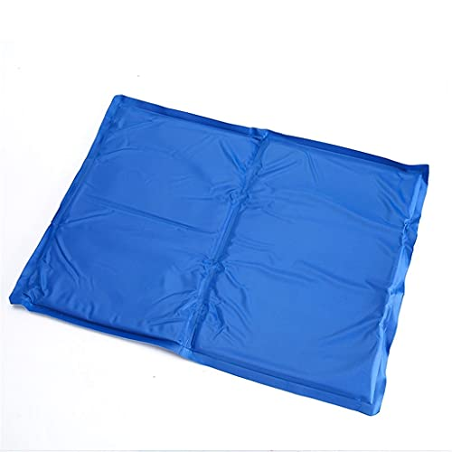 MIANBAO [s, m Colchoneta de enfriamiento de Verano Almohadilla de Hielo para Perros Cozy Gatos Suministros más Frescos Gel frío Cama para Mascotas Azul Maravilloso colchón agradablemente Fresco