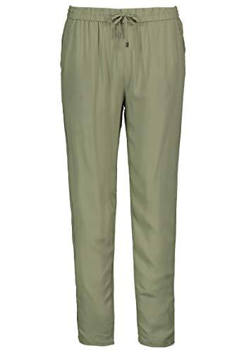 Sublevel Damen Stoff-Hose mit Bindegürtel aus Viskose Green M