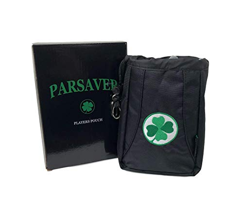 Players Premium Clover Valuables Pouch - A Must Golf Accessories Bag - Safely Store Your Wallet Jewelry Watch Golf Tees Divot Tool and Golf Ball Markers (Green Clover)